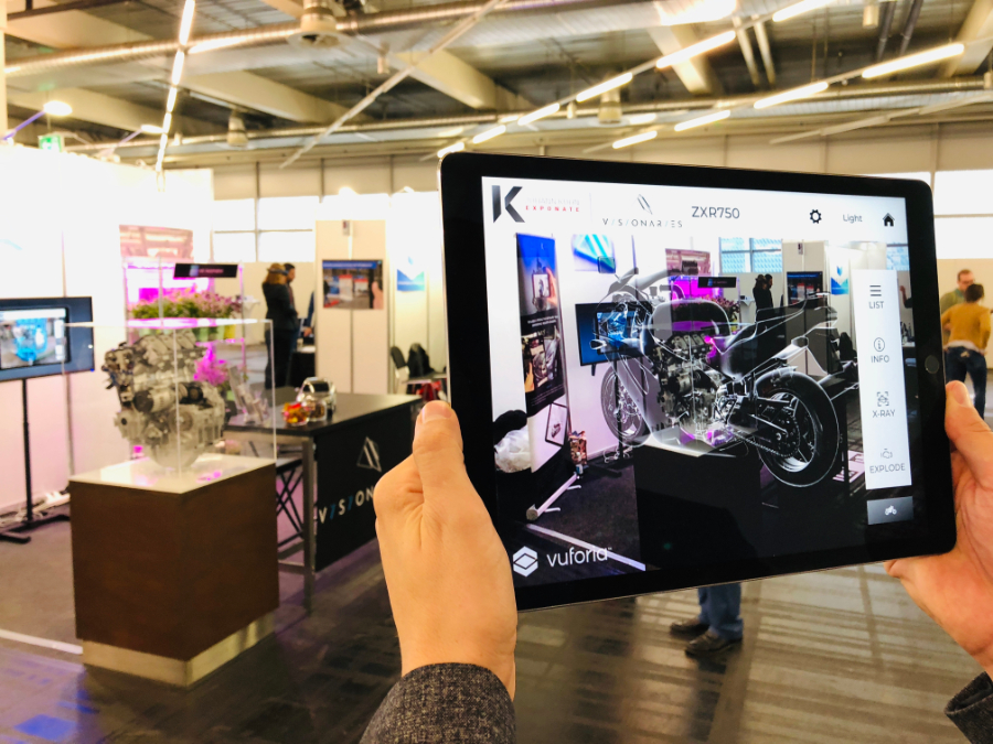 livebau, Visionaries 777 and Johann Kuhn present 3D exhibits in a completely new way by using AR